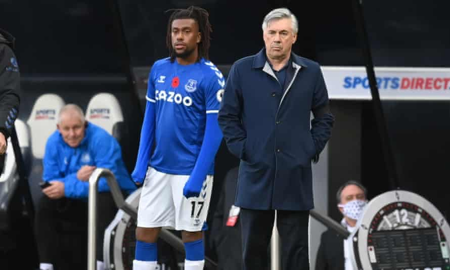 Alex Iwobi and Carlo Ancelotti