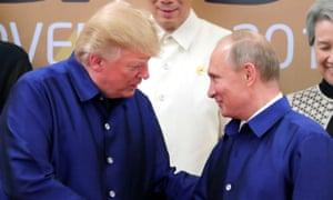 A friendly handshake at Apec between trump and putin