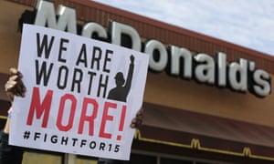 McDonalds worker protest