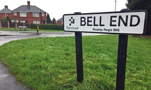 Snigger … Bell End in the West Midlands.