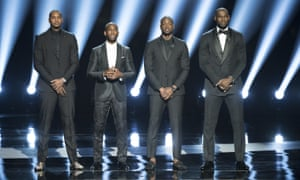 Carmelo Anthony, Chris Paul, Dwyane Wade and LeBron James at Wednesday night's ESPYs.