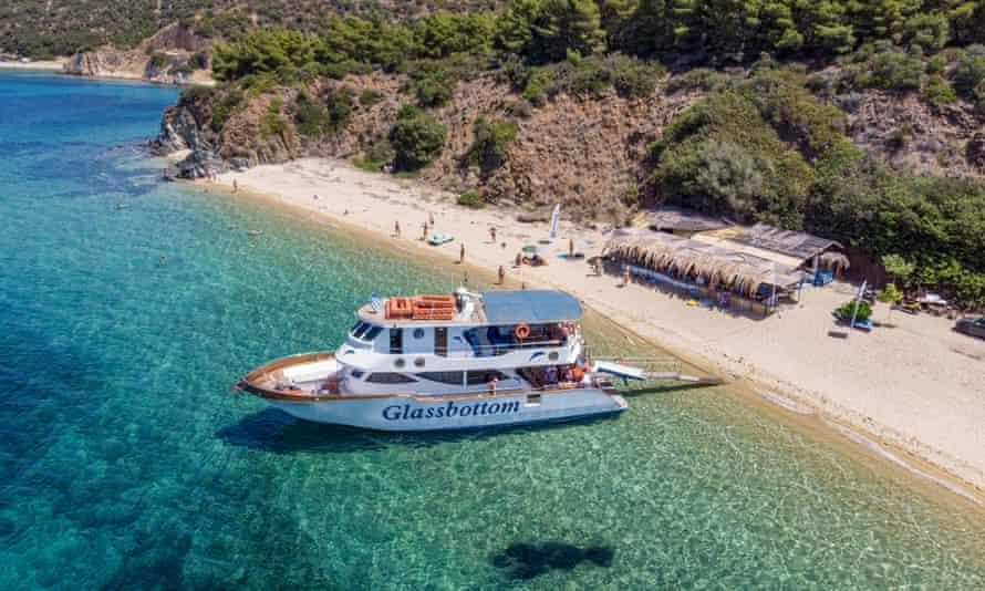 A boat in Halkidiki, Greece