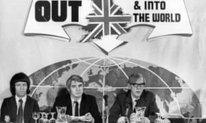 Anti-EuropeansLabour's Peter Shore (right), Labour trade secretary, campaigns against membership of the EEC.