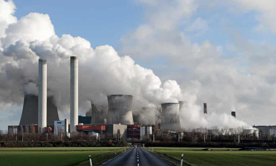 A coal-fired power plant in Bergheim, Germany.