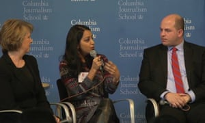 Sabrina discusses the challenges of being a Muslim reporter under a Donald Trump presidency, and why diverse voices are needed now more than ever, during a live panel hosted by the Columbia Journalism Review, in partnership with the Guardian and Reuters, on 3 March 2017.