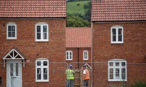 A housing estate on the edge of Glastonbury, Somerset