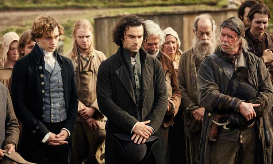 Sean Gilder,Aidan Turner and Josh Whitehouse in Poldark, BBC1