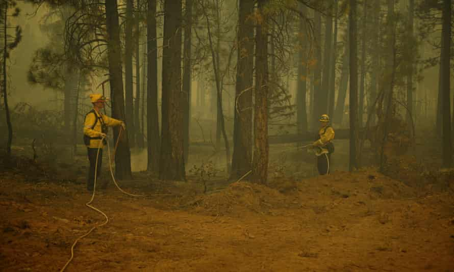 Dixie fire: fresh concerns over gusting winds and potential power cuts |  California | The Guardian