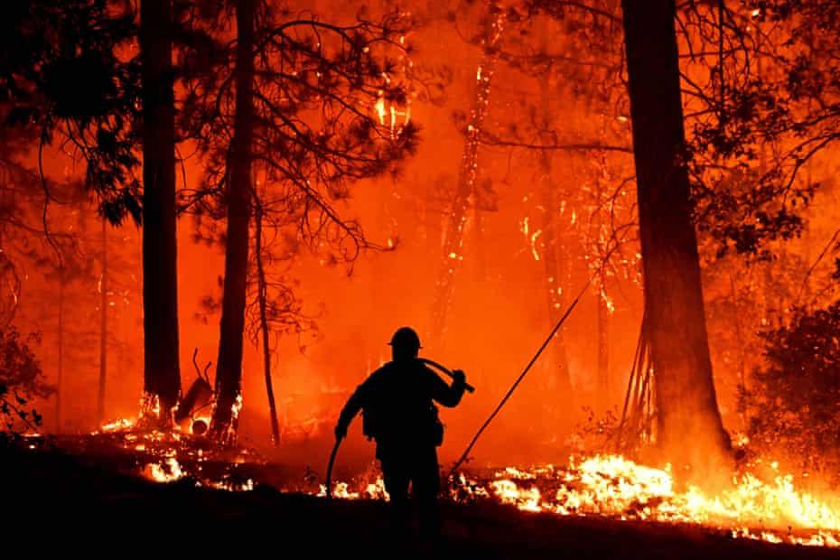 Wildfires raging in California in September.