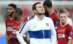 Frank Lampard following Chelsea's defeat on penalties to Liverpool in the Uefa Super Cup in Istanbul.