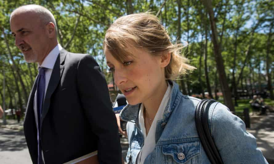 Allison Mack in 2018. She told the judge on Wednesday: 'I made choices I will forever regret.'