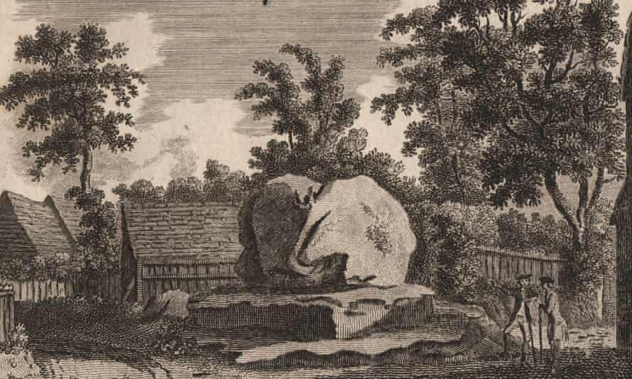 THE CHIDING STONE, Chiddingstone, Kent, 1776 print