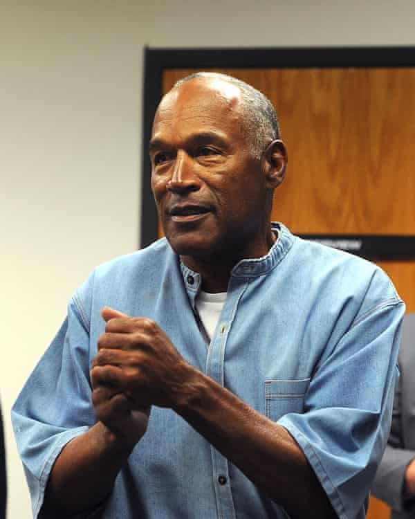 OJ Simpson after being granted parole