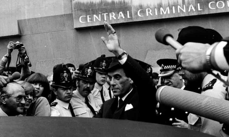 Jeremy Thorpe, former Liberal leader, leaves court after being cleared of conspiracy to murder in 1979.