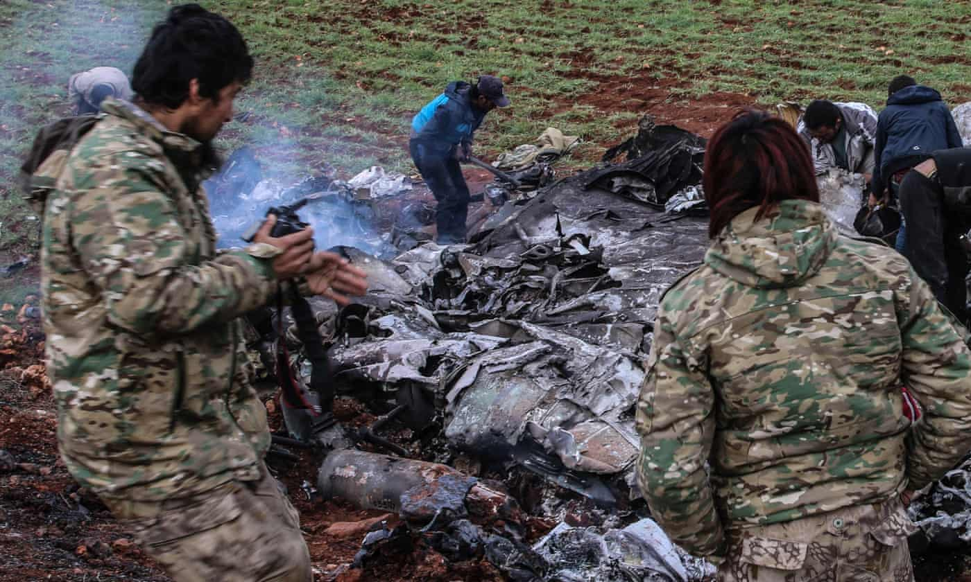 Syrian military helicopter shot down amid tensions with Turkey