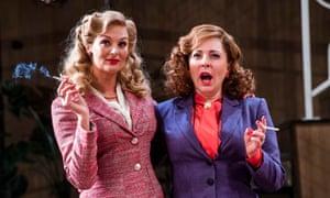 Two redeeming performances … Katherine Kingsley as Liz Essendine and Tracy-Ann Oberman as Monica Reed.
