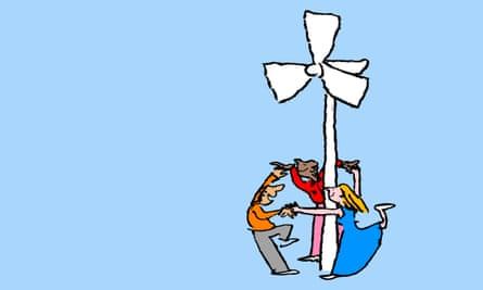 Wind power illustration