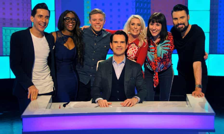'A panel show is, would you like thousands of pounds? Yes please.' Sara Pascoe with presenter Jimmy Carr on 8 out of 10 Cats.