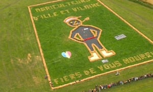 Aerial shot of artwork on the Stage 3 route.
