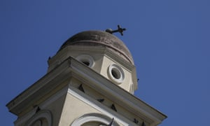 The quake caused damage to the bell tower of the Pantanassa church in Monastiraki Square, Athens.