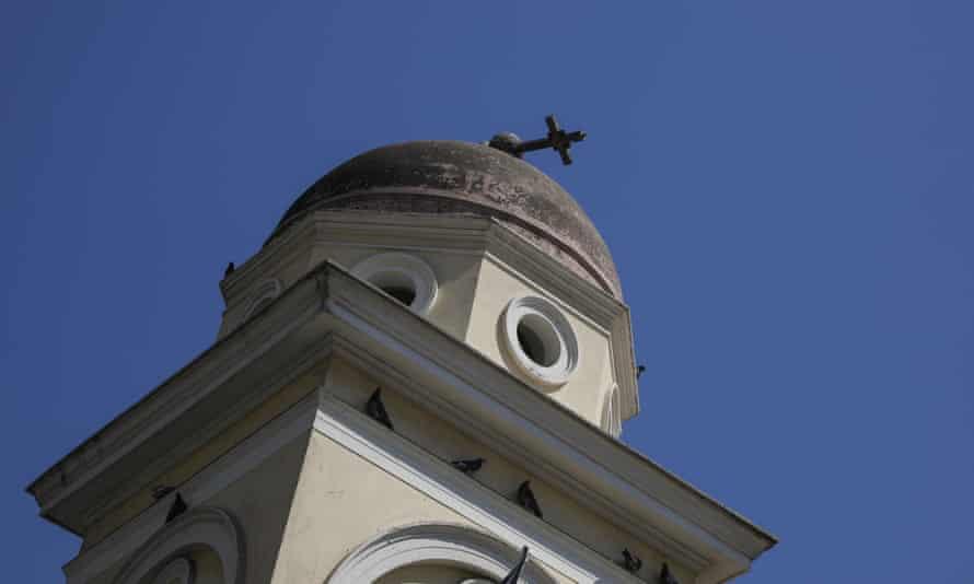 The quake caused damage to the bell tower of the Pantanassa church in Monastiraki Square, Athens.