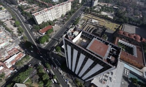 An aerial view of Mexico City, Latin America's second largest city.