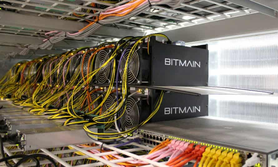 Computer servers at bitcoin-mining centre near Reykjanesbær, Iceland. Police suspect the robberies are linked to organised crime.