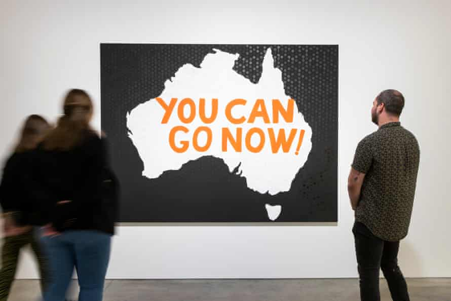 'You Can Go Now': Immigration Policy (2017) by Richard Bell.