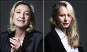 Marine Le Pen, president of Front National, and her niece, Marion Maréchal-Le Pen.