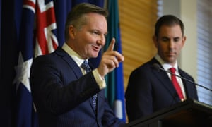 The shadow treasurer, Chris Bowen, and the shadow finance minister, Jim Chalmers, announce the Labor budget costings at Parliament House