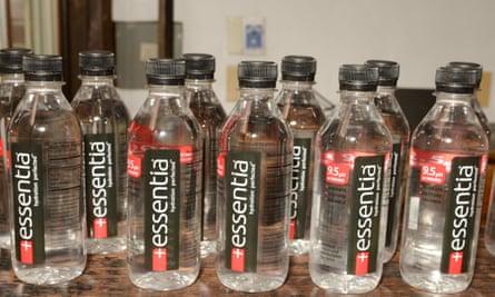 Essentia alkaline water.