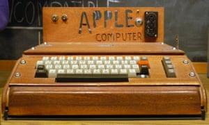 Wooden wonder … the Apple 1 computer.