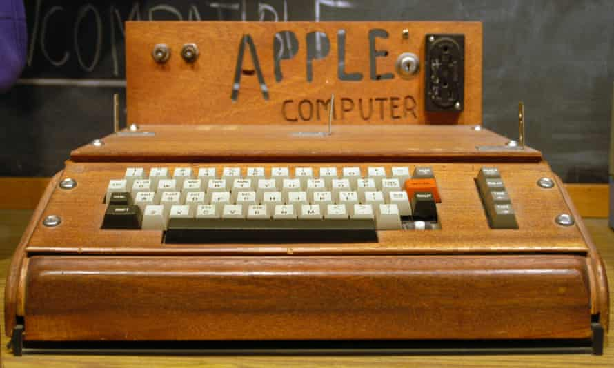 Wooden wonder … the Apple 1 computer.