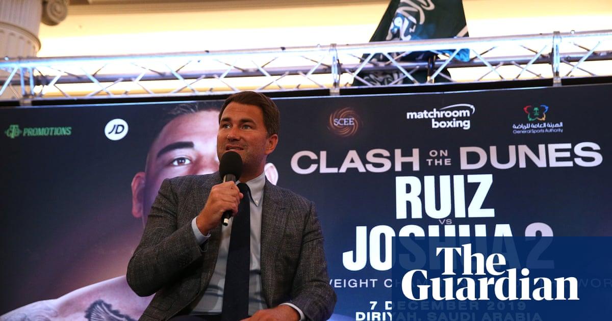 Eddie Hearn defends Joshua v Ruiz Jr rematch in Saudi Arabia