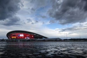 Exterior view of Kazan Arena before the 2017 Confederations Cup match between Germany and Chile.