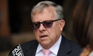 Barry Lambert, grandfather of Katelyn Lambert, speaks at the University of Sydney on Friday.