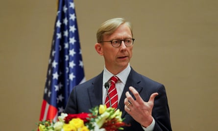 Brian Hook in June. Mike Pompeo said Hook had 'achieved historic results countering the Iranian regime'.