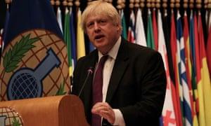 The UK's foreign secretary, Boris Johnson