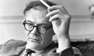Robert Lowell, in London in 1967.