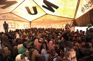 Children between the ages of five and 15 attend school at the Dadaab camp