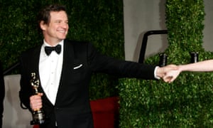 Colin Firth at the 2011 Vanity Fair Academy Awards party