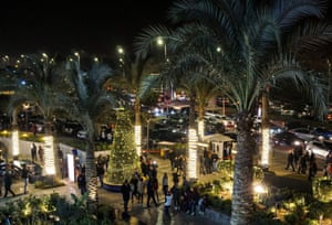 Egyptians celebrate New Year's Eve in Cairo.