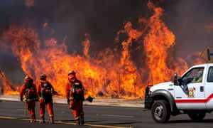 Incarcerated firefighters working in Simi Valley, California, last year.