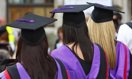 Three university graduates.