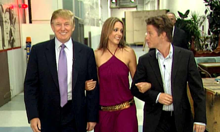 Arianne Zucker, Trump and Bush on Access Hollywood in 2005.
