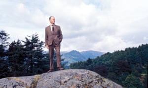 Kenneth Clark above Grasmere in the Lake District in a still from 1969's Civilisation series