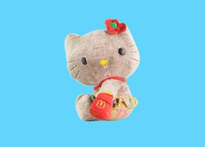 Hello Kitty stuffed toy.