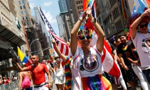 Participants take part in 2019 World Pride NYC and the Stonewall 50th LGBTQ Pride Parade in New York.
