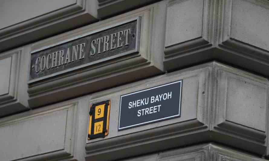 Activists renamed Cochrane Street 'Sheku Bayoh Street' after a man who died in police custody