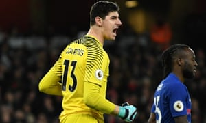 Thibaut Courtois appears set to extend his stay at Chelsea